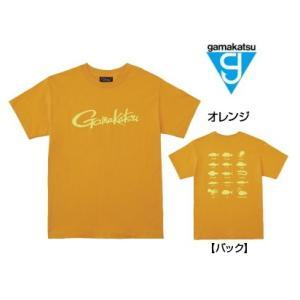 がまかつ Tシャツ (筆記体ロゴ) GM-3576 オレンジ Sサイズ (お取り寄せ商品)