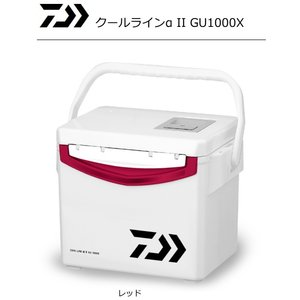 ダイワ クールラインアルファ2 GU 1000X レッド / クーラーボックス (セール対象商品 11/18(月)13:59まで)|tsuribitokan-masuda