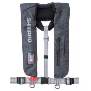 シマノ ラフトエアジャケット 肩掛けタイプ VF-051K チャコール TYPE-A フリーサイズ (S01) (O01) 釣人館ますだ PayPayモール店