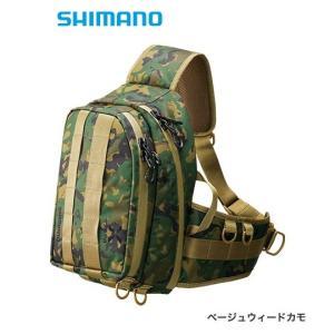 シマノ ゼフォー (XEFO) タフ スリングショルダーバッグ BS-211S ベージュウィードカモ Mサイズ (S01) (O01) (年末感謝セール対象商品)|tsuribitokan-masuda