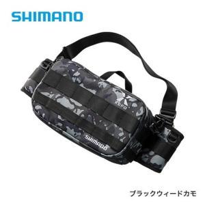 シマノ ゼフォー (XEFO) タフ ウエストバッグ BW-211S Mサイズ ブラックウィードカモ (S01) (O01) (年末感謝セール対象商品)|tsuribitokan-masuda