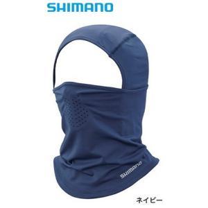 シマノ サン プロテクション フルフェイスマスク AC-062T ネイビー フリーサイズ (S01) (O01) (メール便可)