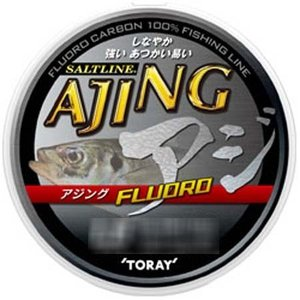 東レ ソルトライン アジング フロロ ナチュラル 100m 1LB (0.2号) (メール便可) (O01)|tsuribitokan-masuda