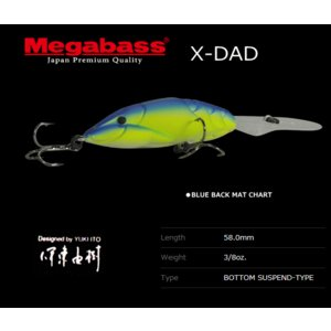 メガバス X-DAD BLUE BACK MAT CHART...