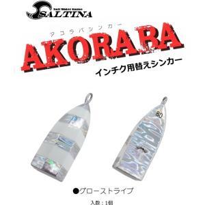 インチク 根魚用替え鉛 ソルティナ アコラバシンカー 100g グローストライプ / SALE10|tsuribitokan