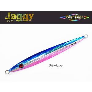 マルシン漁具 メタルジグ フォーエッジ ジャギー 80g  ブルーピンク / SALE10 (メール便可) tsuribitokan