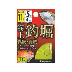 ハヤブサ/HAYABUSA IS600 海上釣堀 糸付 真鯛・青物(全長1.0m 4個入り)|tsurigu-ten