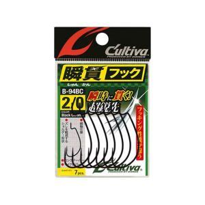 カルティバ/Cultiva B-94BC 瞬貫BC (12307 バス用オフセットフック カラー:ブラッククローム)|tsurigu-ten