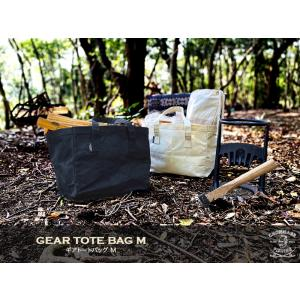 【15% プライスダウン! 】CHONMAGE FISHING ギアトートバッグ M   ソロキャンプ 焚き火 薪バッグ ダッチオーブン 防水帆布 キャンプ 収納ケース tsuriking