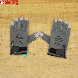 UZU GSグローブ1.0×0.6mm グレー S/ W327S 未使用  手袋 保護 フィッシンググローブ 淡水 ソルトウォーター|tsuriking