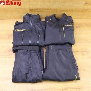 がまかつ オールウェザースーツ (超耐久撥水仕様)GM-3485 LLサイズ ブラック/X322M 美品 フィッシングウェア|tsuriking