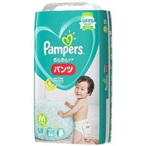 P&G パンパース さらさらケア パンツ スーパージャンボ Mサイズ 6〜11kg 男女共用...