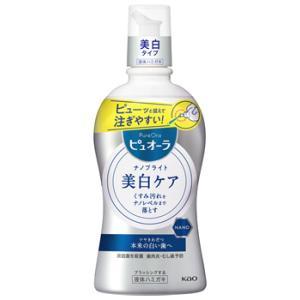 花王 ピュオーラ ナノブライト 薬用 液体ハミガキ (400mL) 洗口液|tsuruha