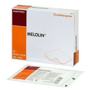 【◇】 スミス・アンド・ネフュー MELOLIN メロリン 非固着性ドレッシング 10cm×10cm (10枚入)|tsuruha