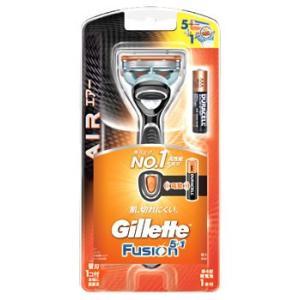 P&G ジレット フュージョン 5+1 パワーエアーホルダー (替刃1個付) カミソリ 髭剃り P&...