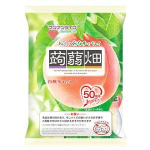 マンナンライフ 蒟蒻畑 白桃味 (25g×12個...の商品画像