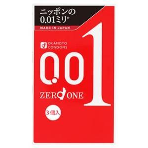 【即納】 オカモト ゼロワン 001 (3個入) コンドーム 0.01mm|tsuruha