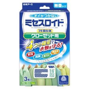 白元アース ミセスロイド クローゼット用 1年間有効 無香タイプ (3個入) 防虫剤 JANコード:...