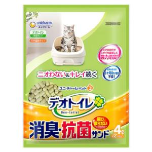 ユニチャーム ペットケア デオトイレ 飛び散らない消臭・抗菌サンド (4L) 猫砂
