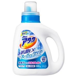 花王 アタック 抗菌EX スーパークリアジェル 本体 (900g) 洗たく用洗剤 液体洗剤 JANコ...