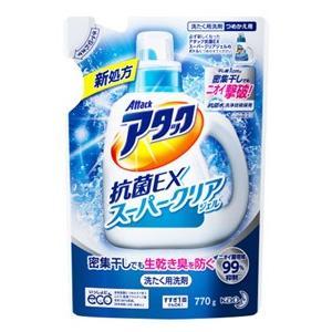 花王 アタック 抗菌EX スーパークリアジェル つめかえ用 (770g) 詰め替え用 洗たく用洗剤 液体洗剤|tsuruha