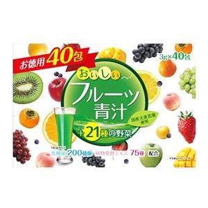 ユーワ おいしいフルーツ青汁 お徳用 (3g×40包) 大麦...
