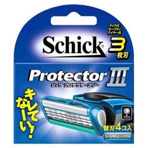 シック プロテクタースリー 替刃 (4個) カミソリ 髭剃り 3枚刃 送料無料
