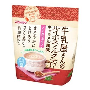 和光堂 牛乳屋さんのルイボスミルクティー キャラメル風味 袋 約18杯分 (220g) インスタント...