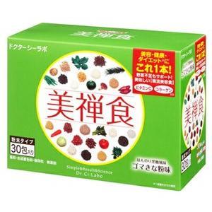 ドクターシーラボ 美禅食 ゴマきな粉味 (30包入) びぜんしょく おきかえダイエット シェイク ※軽減税率対象商品|tsuruha