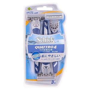 くらしリズム シック クアトロ4 ディスポ 首振り式4枚刃カミソリ (3本) 髭剃り シェービング ...
