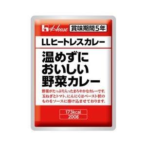 ハウス LLヒートレスカレー30食 温めずにおいしい野菜カレー 5年保存 「非常食 保存食 防災用品」|tsuruma