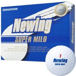 ブリヂストン ニューイング スーパーマイルド ゴルフボール ホワイト 1ダース tsuruya-sp