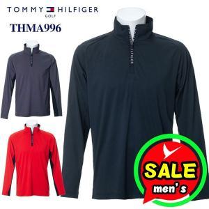 トミーヒルフィガー 長袖ハーフジップハイネックシャツ THMA996