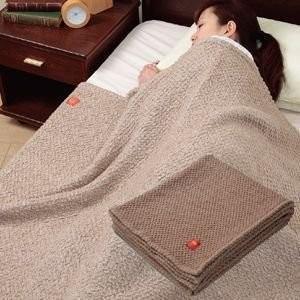 キャメルのびふわ毛布