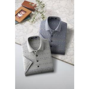紳士ニットポロシャツ 半袖シャツ2色組|tsuten2