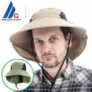メガキャップ社サンブロック UVカットハット 紫外線対策帽子/男女兼用|tsuten2