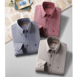 SALOON EXPRESS/サルーンエクスプレス ダンガリーシャツ3色組 GV-015 ネイビー・ワイン・ベージュ|tsuten2