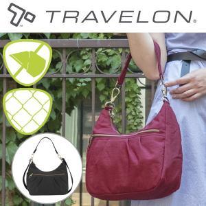 トラベロン社セーフティシグネチャー ホボバッグ 2WAYショルダーバッグ 43328 海外旅行対応盗難防止バッグ|tsuten2