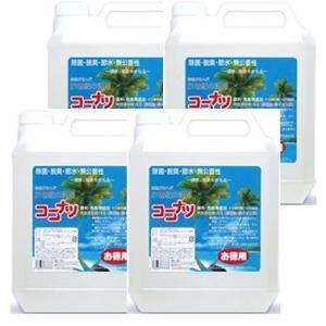 ココナツ 洗剤 お徳用4L 4本セット  ブルーシーインターナショナル|tsutsu-uraura
