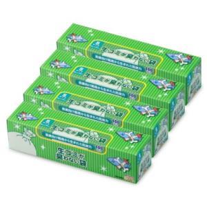 クリロン化成 生ゴミが臭わない袋BOS (ボス)  生ゴミ用 箱型 Sサイズ × 4個 (100枚入)