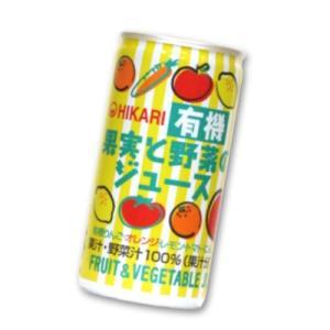 ヒカリ 有機果実と野菜のジュース 190g缶 × 30本 光食品|tsutsu-uraura