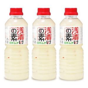 北杜食品 浅漬けの素白キムチ 500ml × 3本|tsutsu-uraura