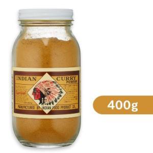 インデアン食品 純カレー粉 瓶 400g|tsutsu-uraura