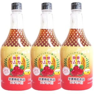 ジャフマック 発酵カムカム(飲料) 565ml [栄養機能食品] × 3本|tsutsu-uraura