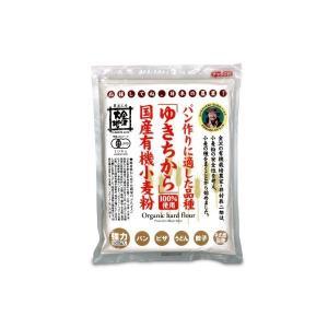 金沢大地 国産有機小麦粉 強力粉ゆきちから500g 有機JAS|tsutsu-uraura