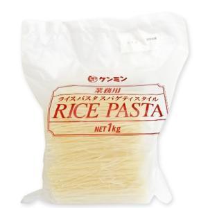 ケンミン 業務用 ライスパスタ スパゲティスタイル 1kg|tsutsu-uraura