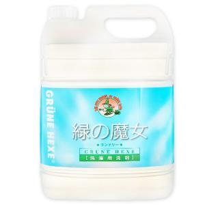 緑の魔女 ランドリー  洗濯用洗剤  5L 業務用 フローラルの香り|tsutsu-uraura