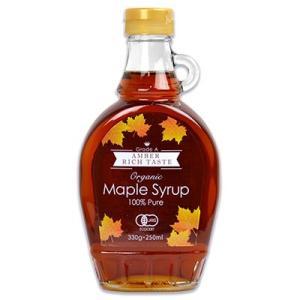 ■有機栽培されたサトウカエデの樹液のみを使用 美しく澄んだ琥珀色のメープルシロップは、カナダの楓から...