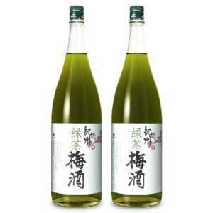 中野BC 緑茶梅酒 1.8L × 2本