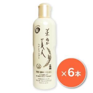 送料無料 日本盛 米ぬか美人 ヘアシャンプー 335ml ×6本|tsutsu-uraura